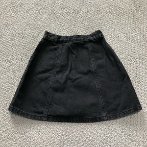 Urban Outfitters Skirts - Black button down denim skirt from Urban Outfitter